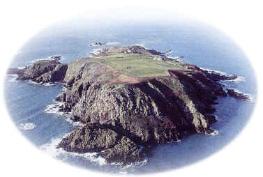 Aerial view of Brecqhou Island, 1993.